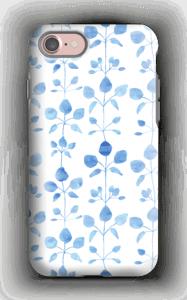 Blommor i blå skal IPhone 7 tough