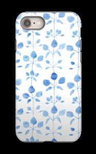 Blå blomster deksel IPhone 8 tough