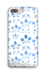 Fleurs bleues  Coque  IPhone 8 Plus