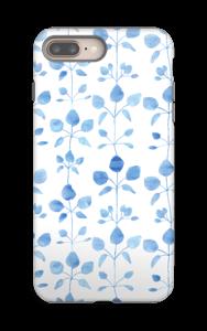 Blommor i blå skal IPhone 8 Plus tough