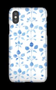 Blå blomster deksel IPhone X