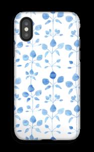 Blomster i blå cover IPhone X tough