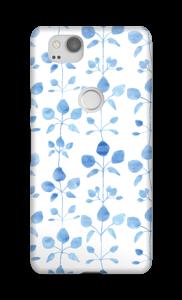 Blue flowers case Pixel 2