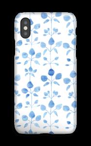 Fiori in blu cover IPhone XS