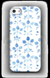 Blomster i blå cover IPhone 5/5S