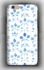 Blå blomster deksel IPhone 6