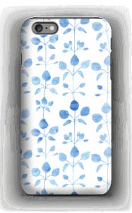 Sinisiä kukkaisia kuoret IPhone 6s Plus tough