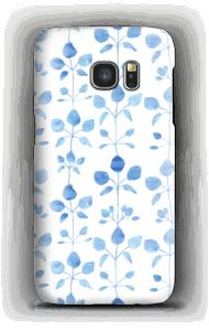 Sinisiä kukkaisia kuoret Galaxy S7
