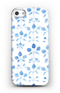 Blue flowers case IPhone SE