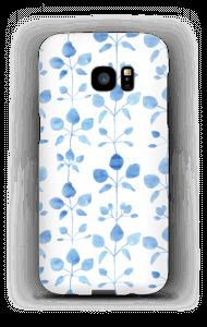 Blå blomster deksel Galaxy S7 Edge