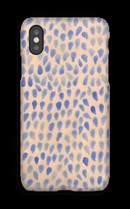 Blå dråper deksel IPhone X