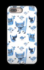 Linnut ja kissat kuoret IPhone 8 Plus tough