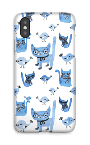 Cats & birds case IPhone X