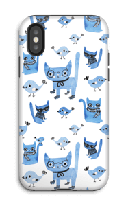 Oiseaux et chats Coque  IPhone X tough