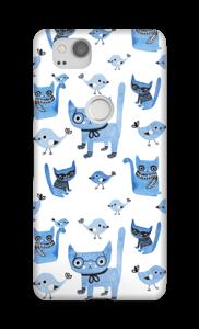 Gatos y Pájaros funda Pixel 2