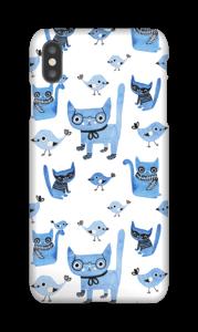 Gatos y Pájaros funda IPhone XS Max