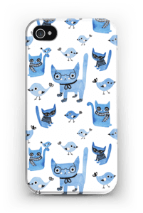 Cats & birds case IPhone 4/4s