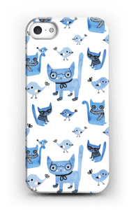 Linnut ja kissat kuoret IPhone 5/5S