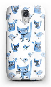 Cats & birds case Galaxy S4