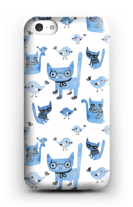 Cats & birds case IPhone 5c