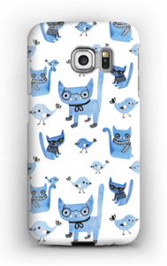 Fåglar & katter skal Galaxy S6 Edge