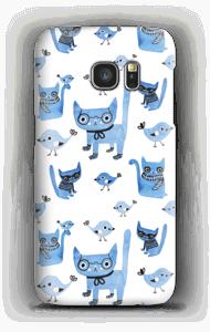 鳥とネコ ケース Galaxy S7