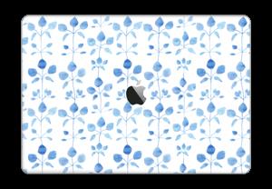 "Blå blomster Skin MacBook Pro 15"" 2016-"