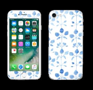 Blå blomster Skin IPhone 7