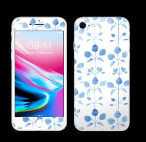 Flowers in blue Skin IPhone 8