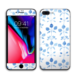 Blå blomster Skin IPhone 8 Plus