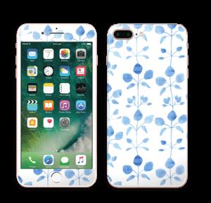 Blå blomster Skin IPhone 7 Plus