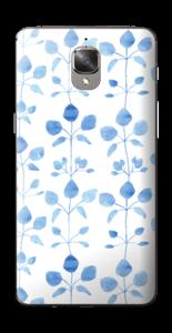 Blå blomster Skin OnePlus 3T