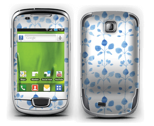 Blå blomster Skin Galaxy Mini