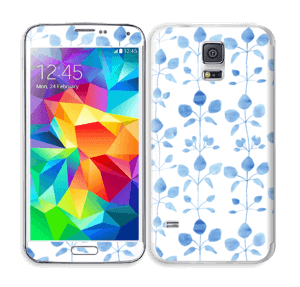 Blå blomster Skin Galaxy S5