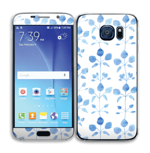 Blå blomster Skin Galaxy S6