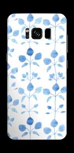Blå blomster Skin Galaxy S8