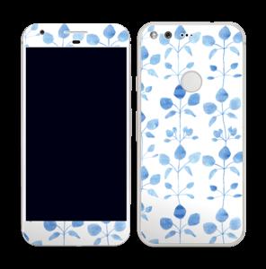 Blå blomster Skin Pixel