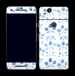 Blå blomster Skin Pixel 2