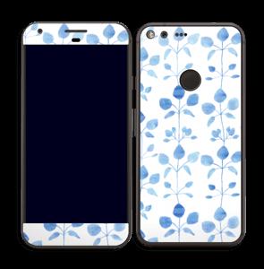 Fleurs bleues Skin Pixel XL