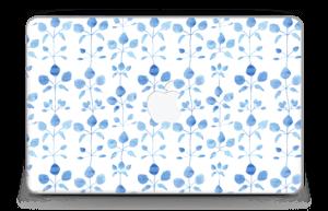 """Flowers in blue Skin MacBook Air 11"""""""
