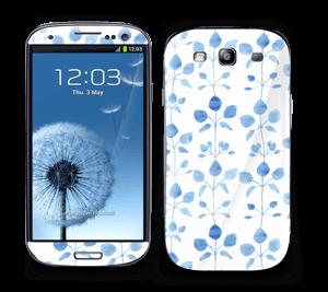 Flowers in blue Skin Galaxy S3