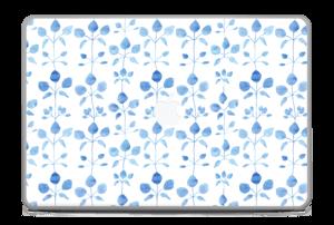 """Flowers in blue Skin MacBook Pro 17"""" -2015"""
