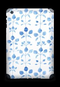 Blå blomster Skin IPad mini 2 back