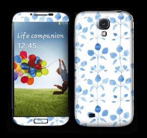 Flowers in blue Skin Galaxy S4