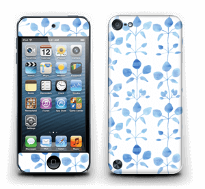 Blå blomster Skin IPod Touch 5th Gen