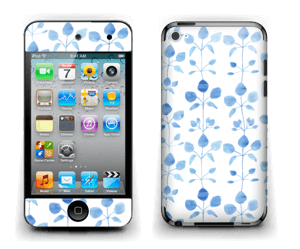 Blå blomster Skin IPod Touch 4th Gen