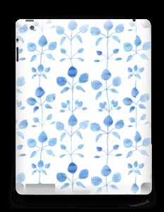 Blå blomster Skin IPad 4/3/2