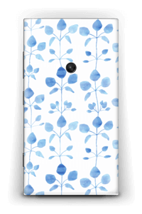 Blue flowers  Skin Nokia Lumia 920