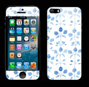 Blå blomster Skin IPhone 5s