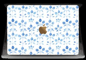 """Blå blomster Skin MacBook 12"""""""